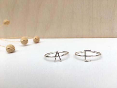 prsteň Písmenko tenký