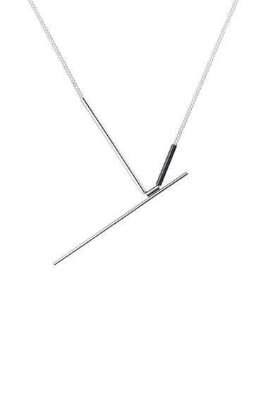 náhrdelník Lines ruthenium