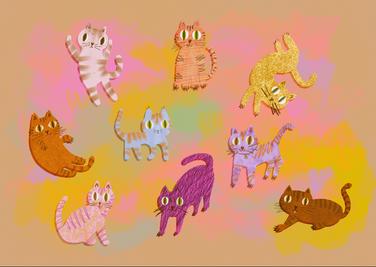 plagát Mačky