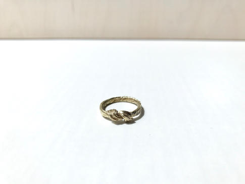 prsteň Twisted 01 pozlátený