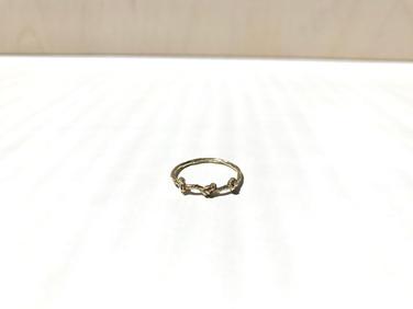prsteň Twisted 02 pozlátený