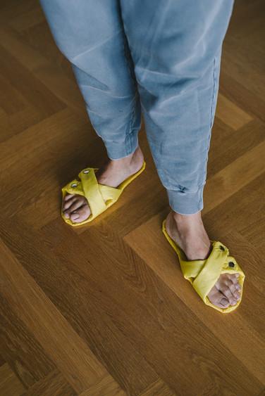 papuče Boženky žlté