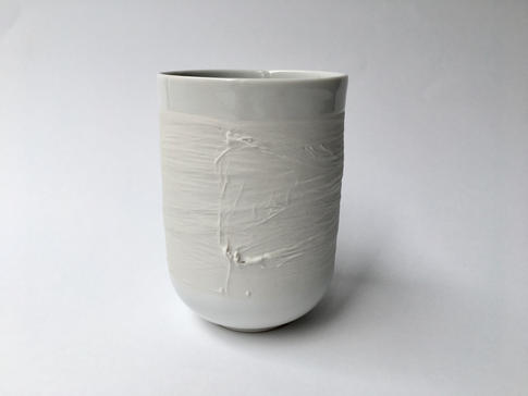 pohár Swallow biely, vodorovný dekor