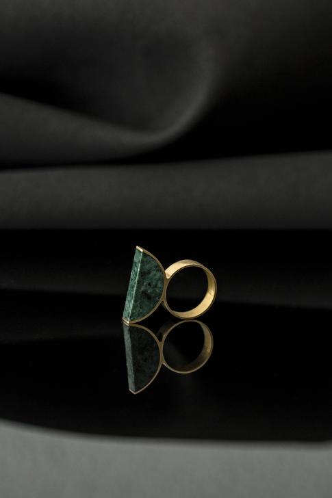 prsteň Moon Verde