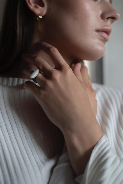 prsteň Adamantine Bianco