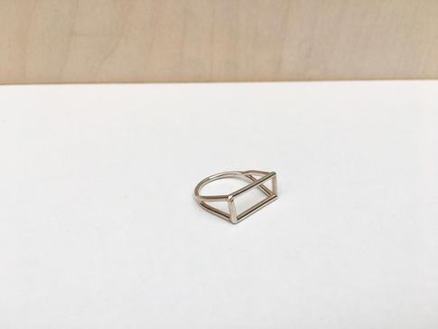 prsteň SKELET obdĺžnik