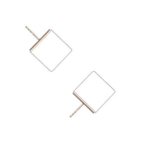Cube 08 rose earrings