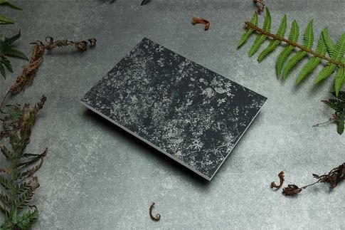 zápisník Botanical čierno-strieborný rojovník