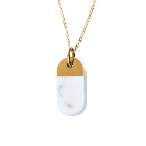 náhrdelník Split Oval Bianco