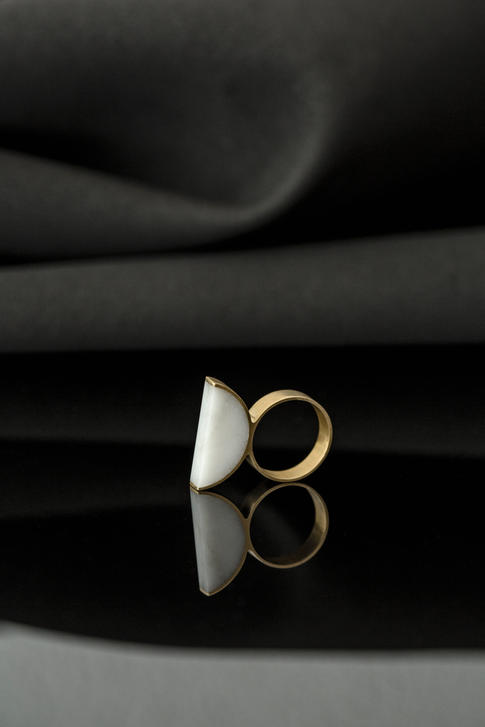 prsteň Moon Bianco