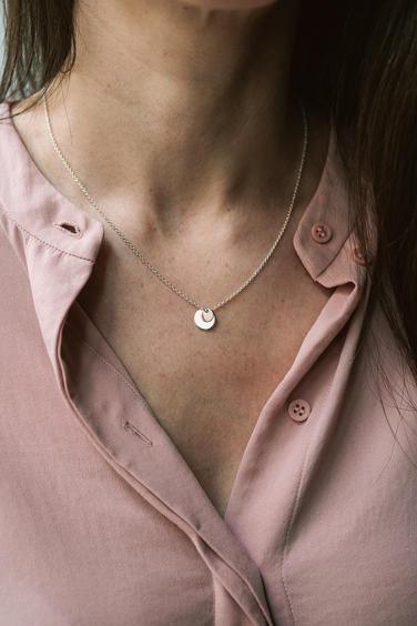 náhrdelník Kruhy rose gold