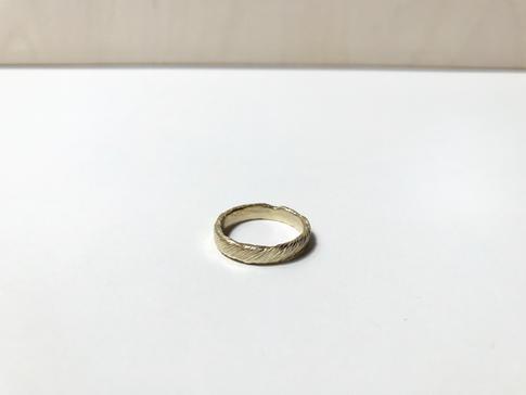 prsteň Twisted 03 pozlátený