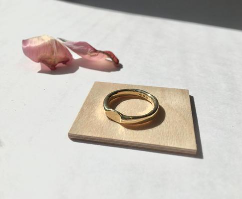 prsteň Eye pozlátený