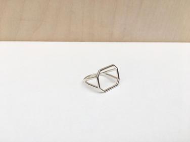 prsteň SKELET octagon horizontal