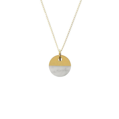náhrdelník Split  Round Bianco