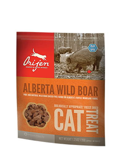 Dla Kota: ORIJEN FD Treat Wild- Roaming Boar Recipe Cat 35g