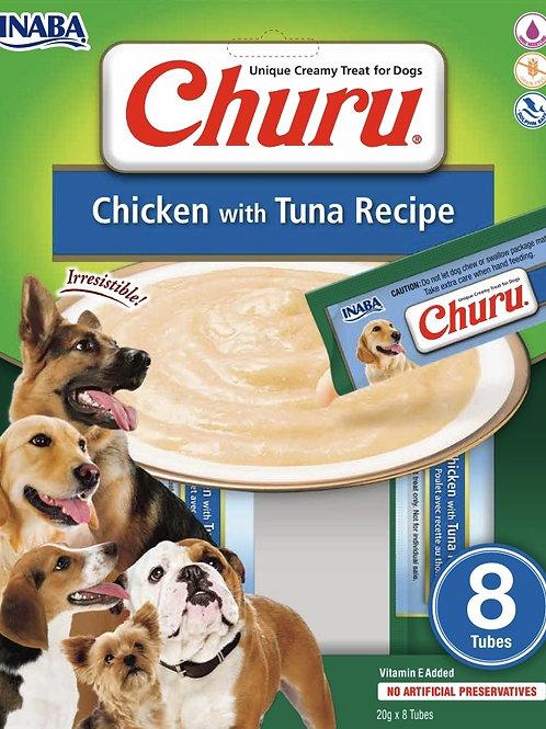 Churu dla psa  Przekąska/sos o smaku kurczaka i tuńczyka (8 sztuk x 20 gram)