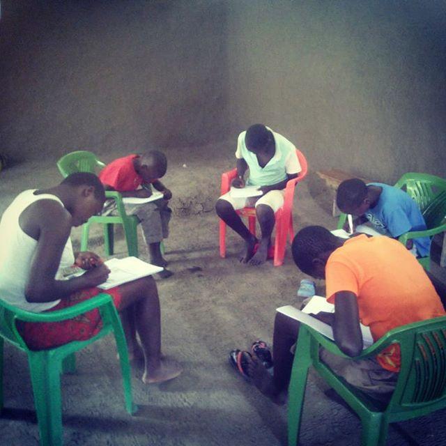 Focussed Lifebook kids in Kenya. What an