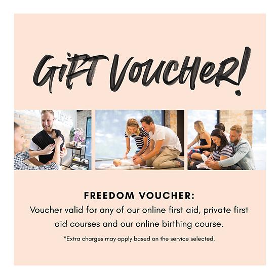 Gift Voucher: Freedom Voucher