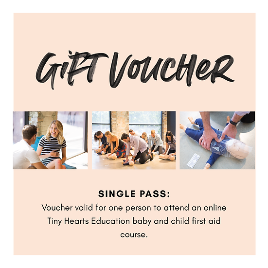Gift Voucher: First Aid Course Single Pass