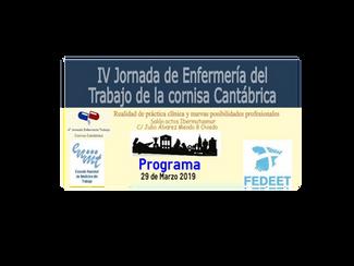 IV Jornada de Enfermería del Trabajo de la Cornisa Cantábrica