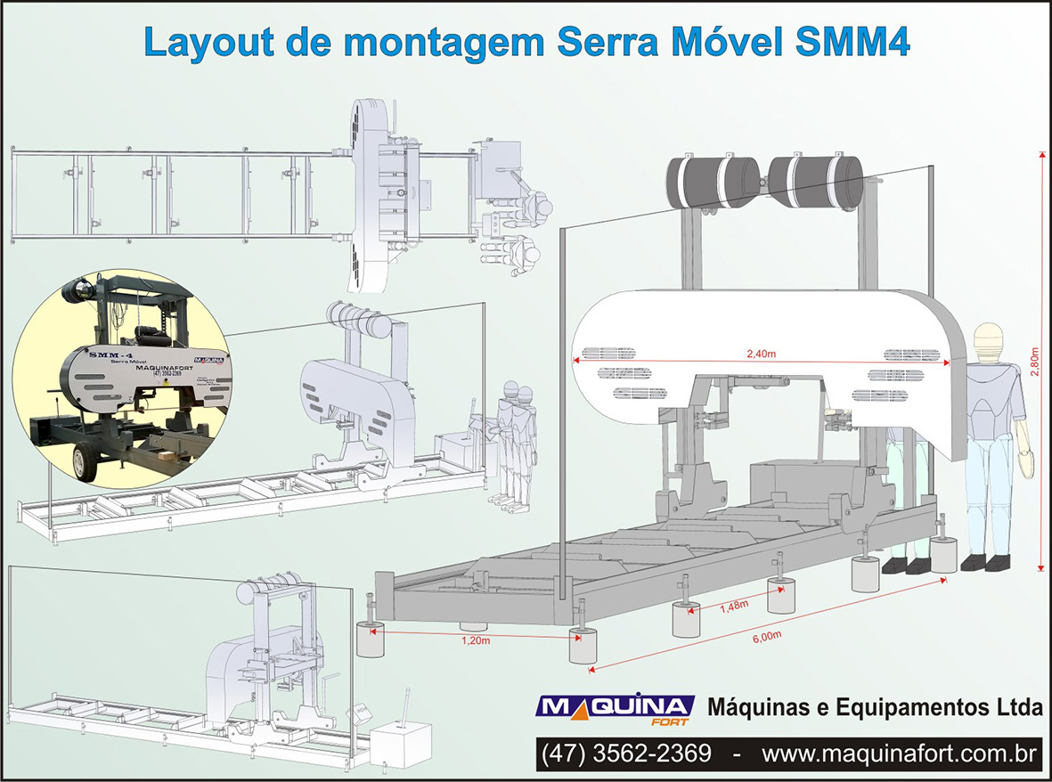 Layout montagem Serra Móvel
