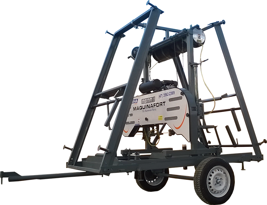 Mini-Serraria Móvel fácil transporte