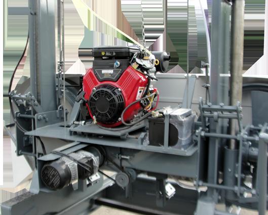 Serra Móvel com motor gasolina 23cv