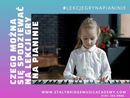 Czego można się spodziewać na lekcji gry na pianinie.
