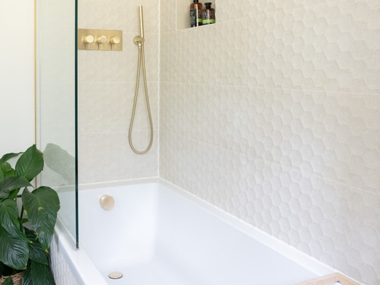 Saving Space and Adding Class with a Shower Over a Bath