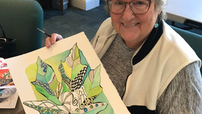 Kick off 2019 with Art Classes with Angie  Find a whole new happy with watercolors and pen & ink
