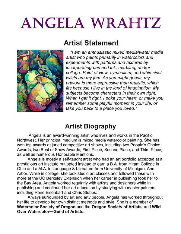 Artist Statement & Bio 7-21-2018 LATEST