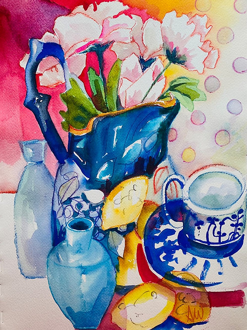 Thursday 23 September Watercolor Painting Via Zoom   10am-12:30pm