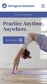 Wellness website templates – Yoga on Demand