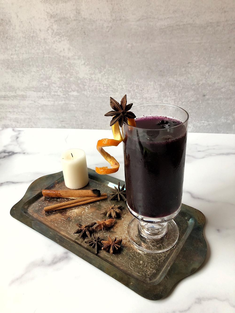The Hocus Pocus Punch is a dark berry non-alcoholic punch perfect for your Halloween party.