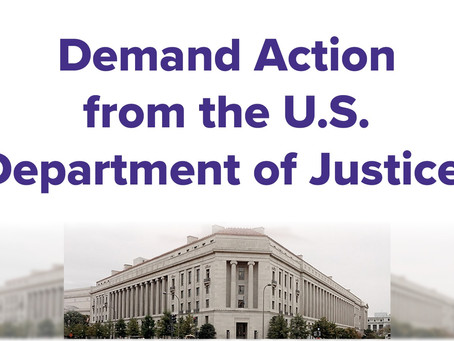 Demand the D.O.J. take action on fetal trafficking before it's too late.