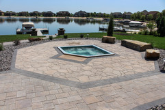 Infinity Swimming Pool with Fine Paver Patio