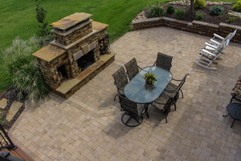 Beautiful Fire Place and Paver Patio