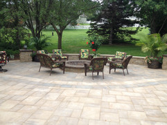 Paver Patio and Luxury Fire Place