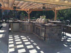 Kitchen with Hanging Pergola