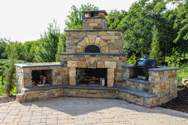 Towering Stone Firepit