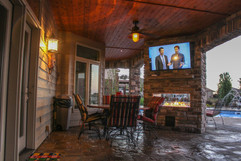 Paver Patio and Fire Place