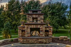 Amazing Stone Fire Place