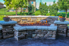 High End Fire Pit with Water Features