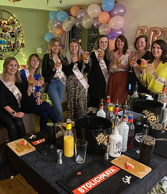 Hen Party Cocktail Making Class at Fullers Hill Cottages in Cambridge