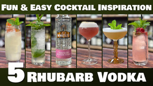 5 Easy Cocktails with Rhubarb Vodka