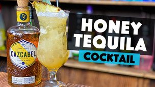 Tequila Honey Cocktail with Cazcabel Tequila