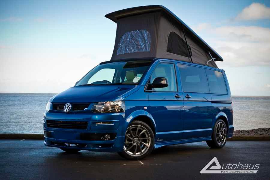 Blue VW Campervan.  My Dream