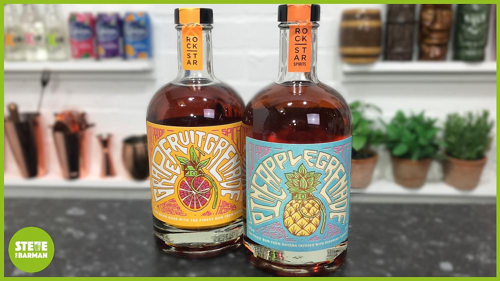 Pineapple Grenade and Grapefruit Grenade Spiced Rum