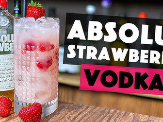 Absolut Strawberry Vodka Cocktail with Coconut!